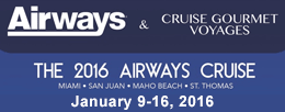 Airways 2016 Cruise January 9-16, 2016