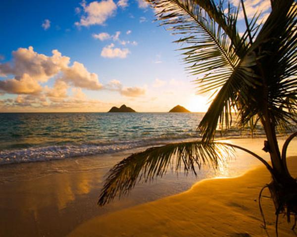 Secluded Lanikai Beach Of Hawaii