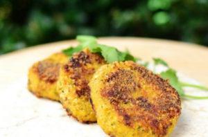 Cauliflower cheese patties