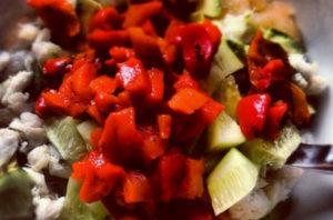Grapefruit salad, with avocado