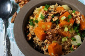Couscous with Roasted Pumpkin and Walnut