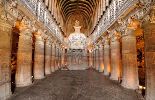 Ajanta Caves interior