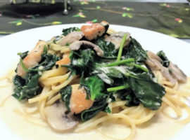 Creamy Chicken Pasta with Baby Spinach