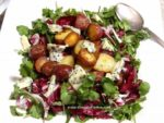 Pork Chops and Roasted Potatoes with Red Wine Honey Mustard Vinaigrette