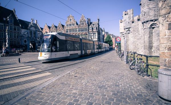 Ghent, Belgium tram